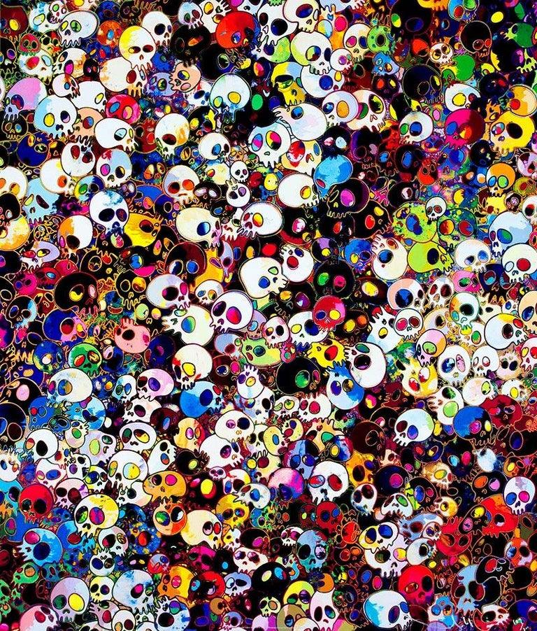Takashi Murakami Figurative Print - TAKASHI MURAKAMI: There are little people inside. me Superflat, Japanese Pop Art
