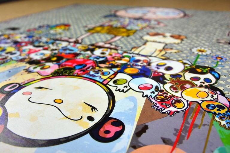 TAKASHI MURAKAMI: With eyes on... Hand signed & numbered. Superflat, Pop Art - Gray Figurative Print by Takashi Murakami