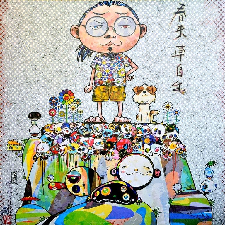 Takashi Murakami Figurative Print - TAKASHI MURAKAMI: With eyes on... Hand signed & numbered. Superflat, Pop Art
