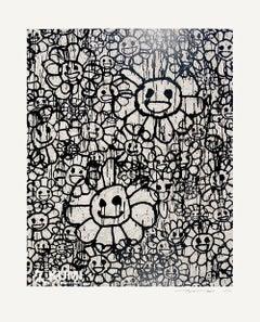 Takashi Murakami x MADSAKI Flowers Beige A Silkscreen Edition 100