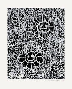 Takashi Murakami x MADSAKI Flowers Black A Silkscreen Edition 100