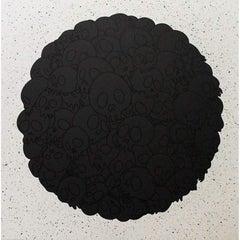 TM/KK For BLM. Black Flowers and Skulls Round