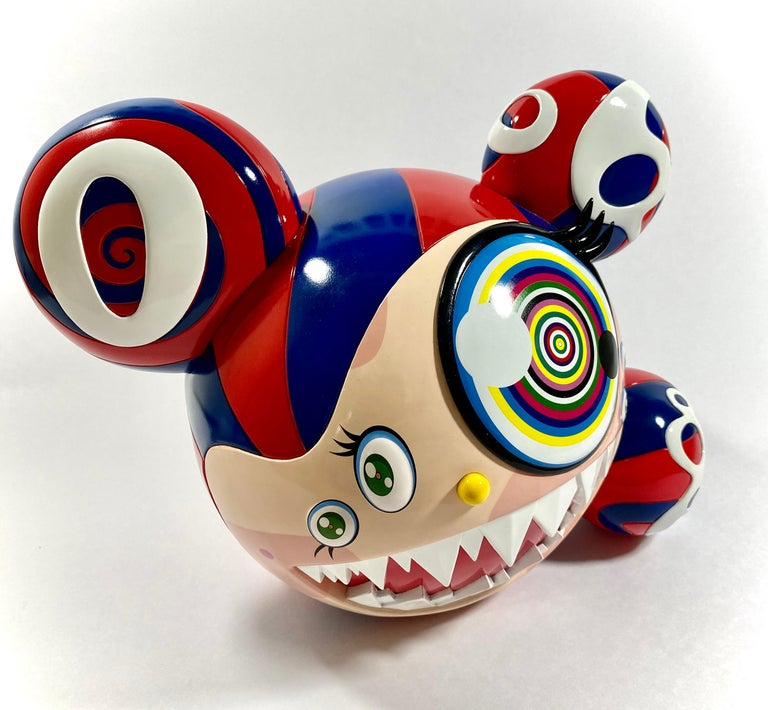 Takashi Murakami Complexcon 2016 Exclusive Mr Dob Red Blue Vinyl Art Toy New  - Contemporary Sculpture by Takashi Murakami