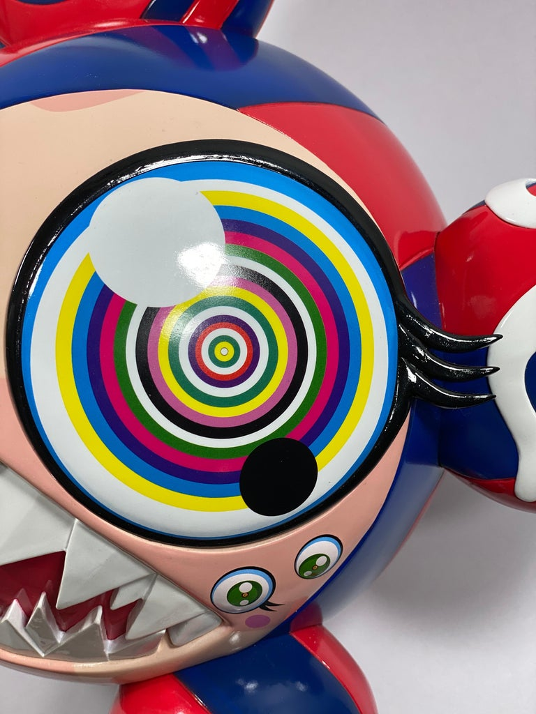 Takashi Murakami Complexcon 2016 Exclusive Mr Dob Red Blue Vinyl Art Toy New  For Sale 2