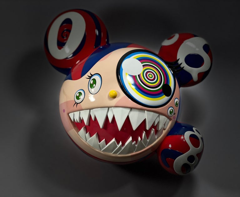 Takashi Murakami Complexcon 2016 Exclusive Mr Dob Red Blue Vinyl Art Toy New  For Sale 4