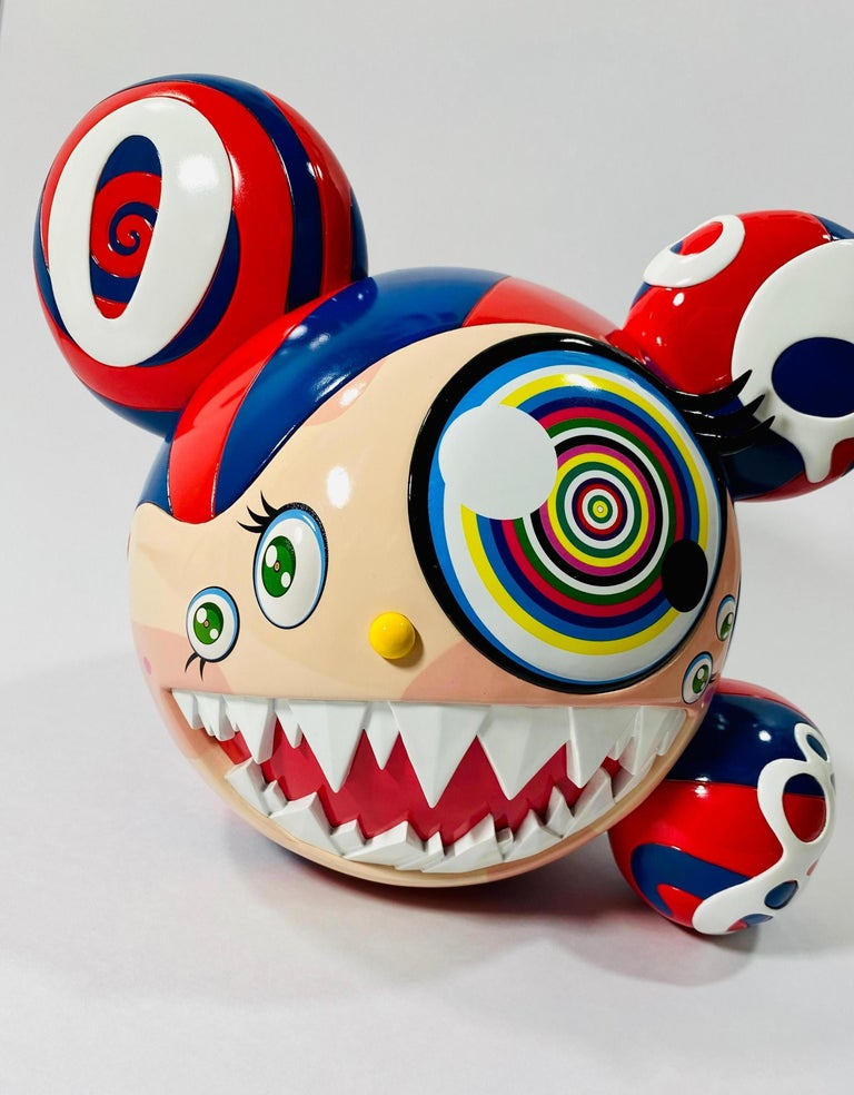 Takashi Murakami Complexcon 2016 Exclusive Mr Dob Red Blue Vinyl Art Toy New  - Sculpture by Takashi Murakami