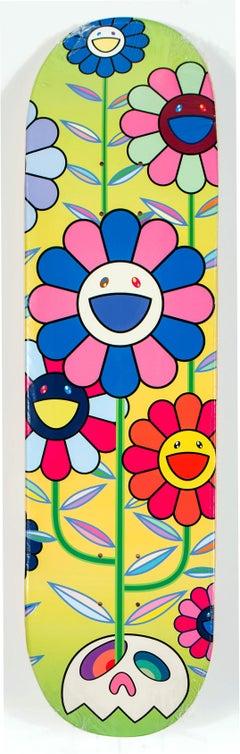 Takashi Murakami Flowers skateboard deck (Takashi Murakami flowers)