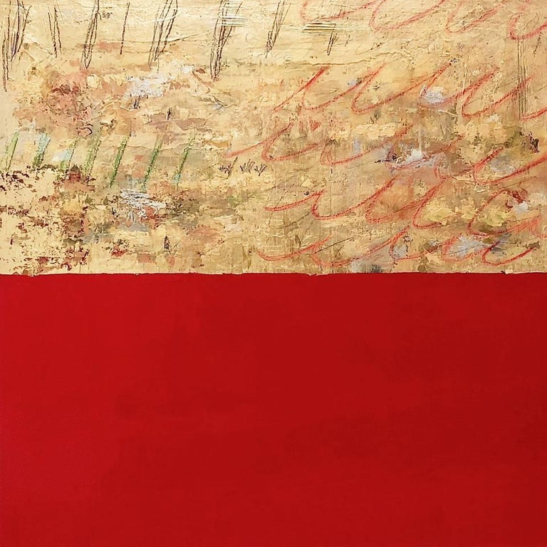 Takefumi Hori Abstract Painting - Gold and  Color 54