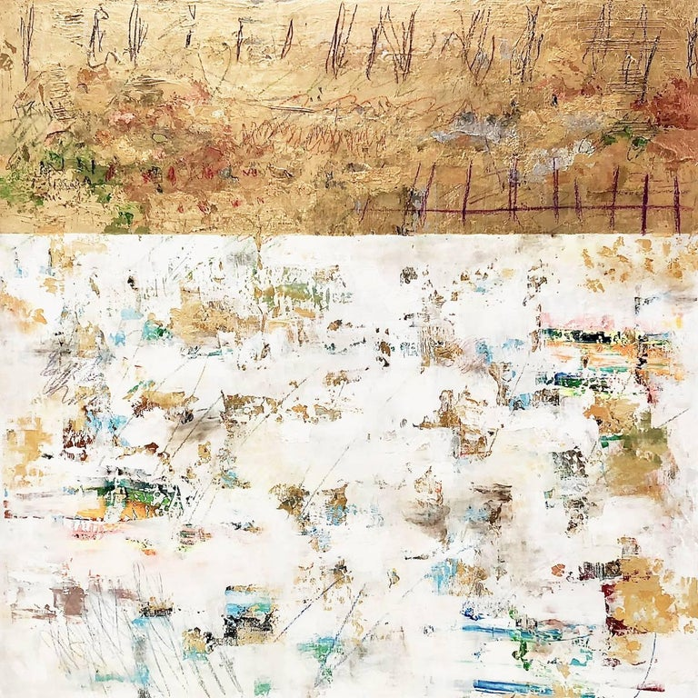 Takefumi Hori Abstract Painting - Gold and  Color 55