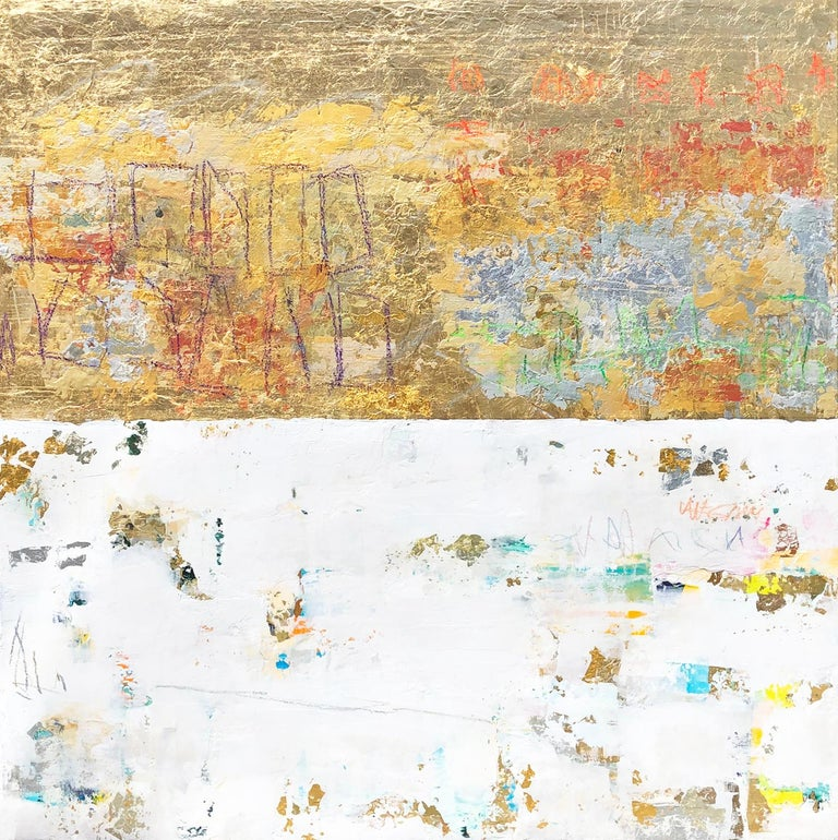 Takefumi Hori Abstract Painting - Gold and Color 63