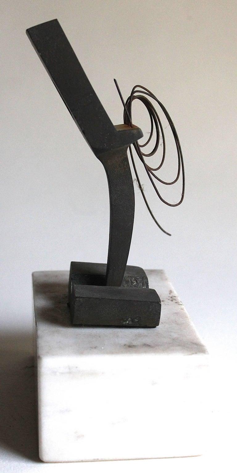 Kinetic Takis, Vassilakis Iron Sculpture Provenance Robert Elkon Gallery For Sale