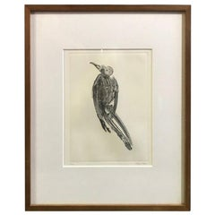 Takuji Kubo Limited Edition Signed Japanese Etching Print Dead Bird
