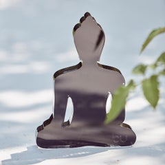 Black mini buddha statue