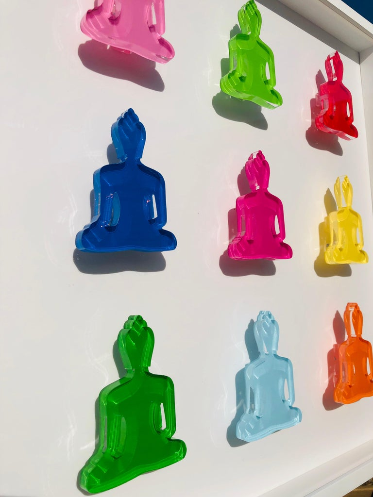 Buddha sculptures wall art - Nine no 6 For Sale 1