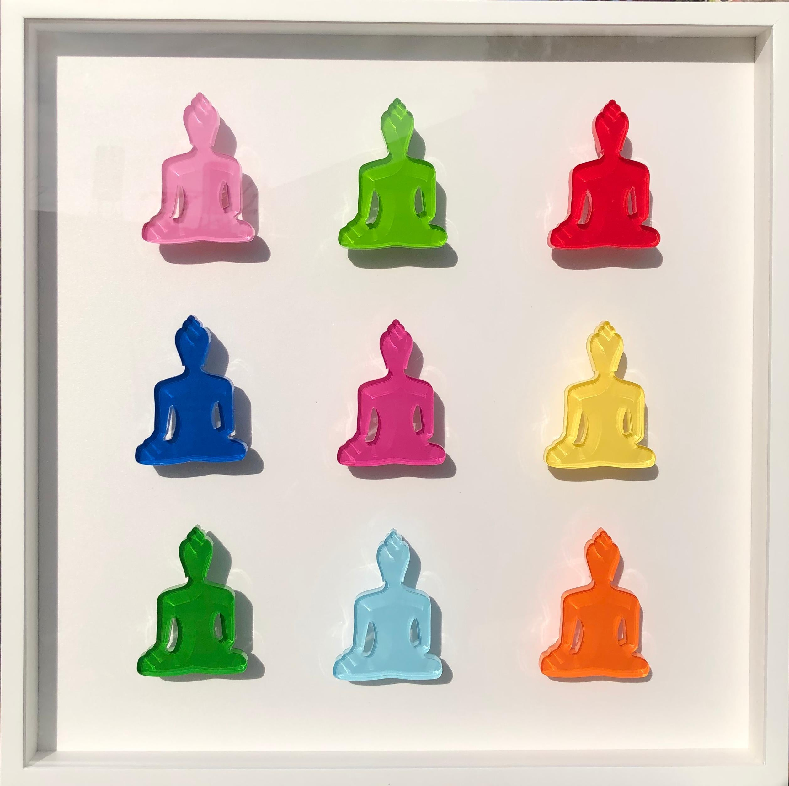 Buddha sculptures wall art - Nine no 6