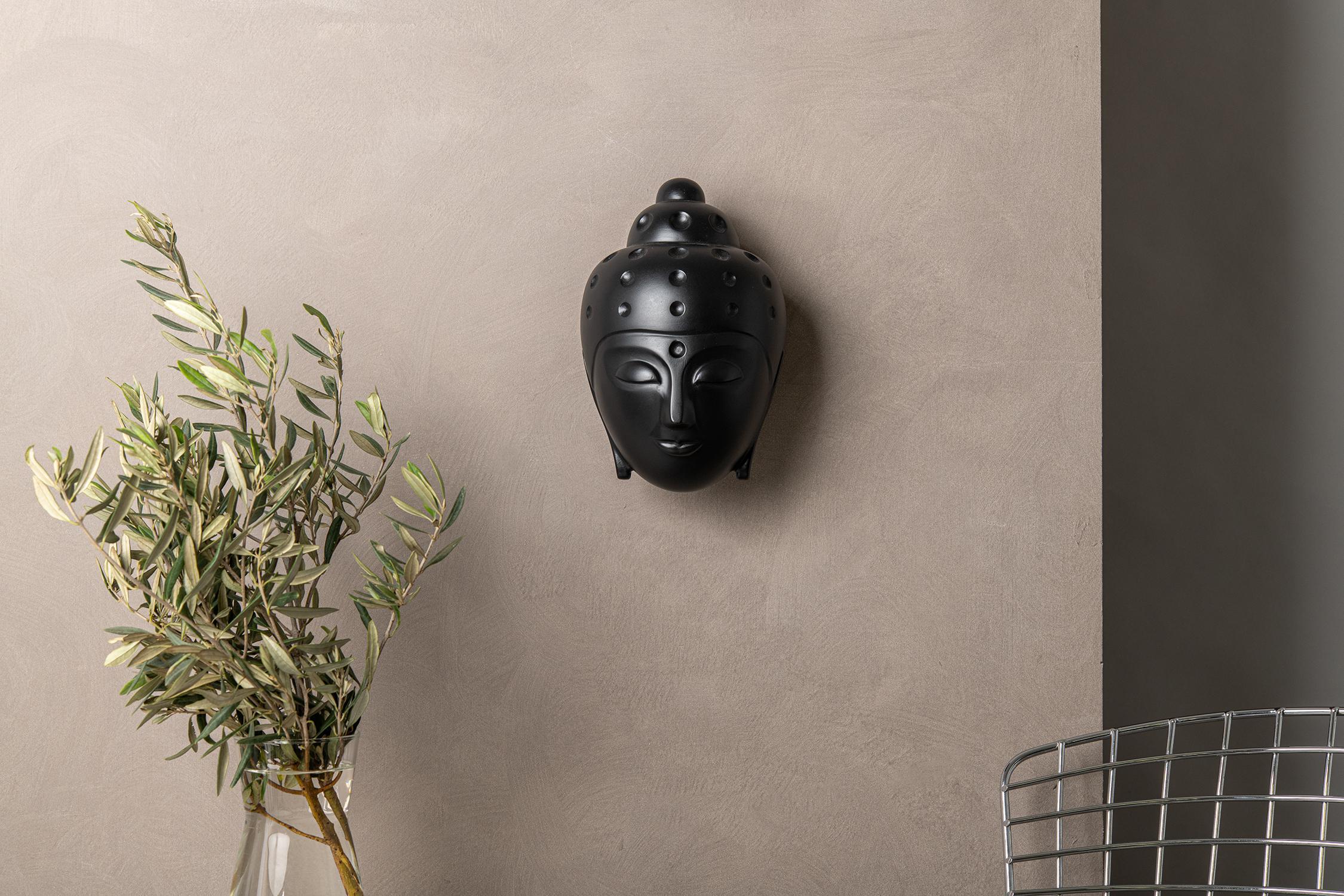 Floating Buddha head Statue - Black