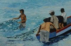 Chorrillos, Painting, Oil on Wood Panel