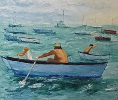 Los Remeros, Painting, Oil on Canvas