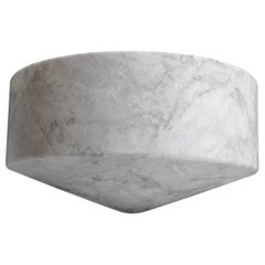Talayot White Marble Carved Large Bowl