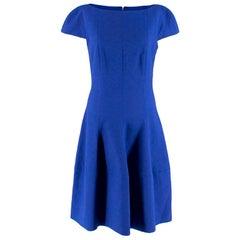 Talbot Runhof Blue Textured Midi Dress - Size estimated XS