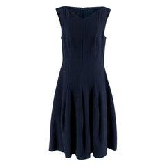 Talbot Runhoff Navy Jacquard Sleeveless A-line dress - Size US8
