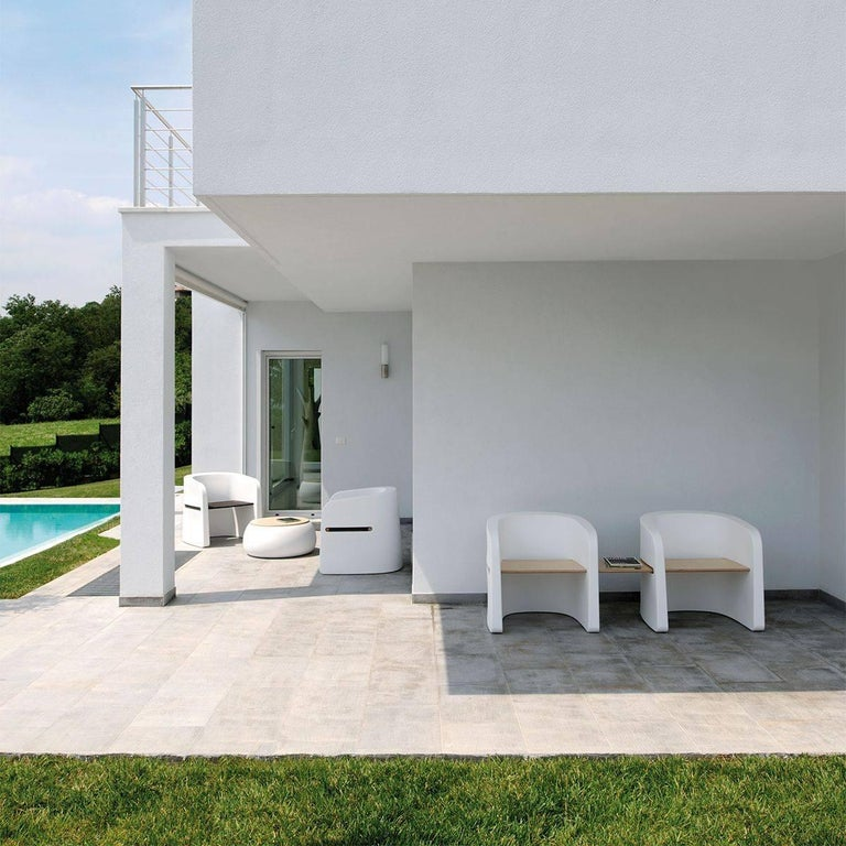 Modern Talea Bench in Tortora Polyethylene by Marco Zito for Plust For Sale