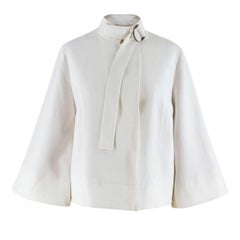 Talie nk Off-white Bell-sleeved Jacket - Size US 0-2