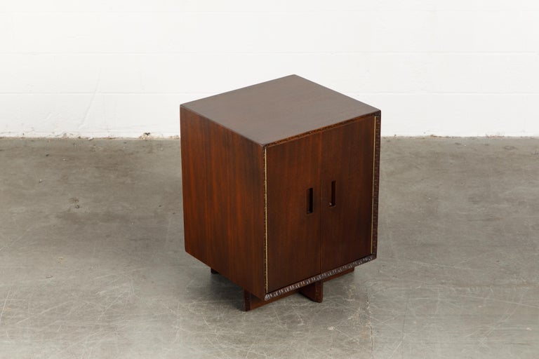 'Taliesin' Collection Mahogany Cabinet by Frank Lloyd Wright, 1955, Signed For Sale 4