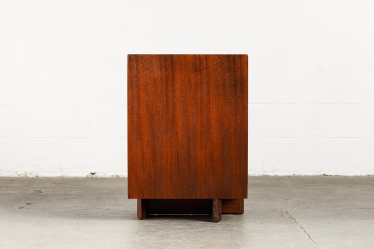 'Taliesin' Collection Mahogany Cabinet by Frank Lloyd Wright, 1955, Signed For Sale 5