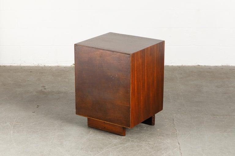 'Taliesin' Collection Mahogany Cabinet by Frank Lloyd Wright, 1955, Signed For Sale 6