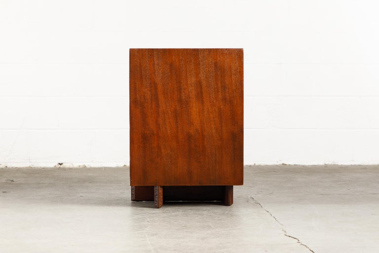 'Taliesin' Collection Mahogany Cabinet by Frank Lloyd Wright, 1955, Signed For Sale 8
