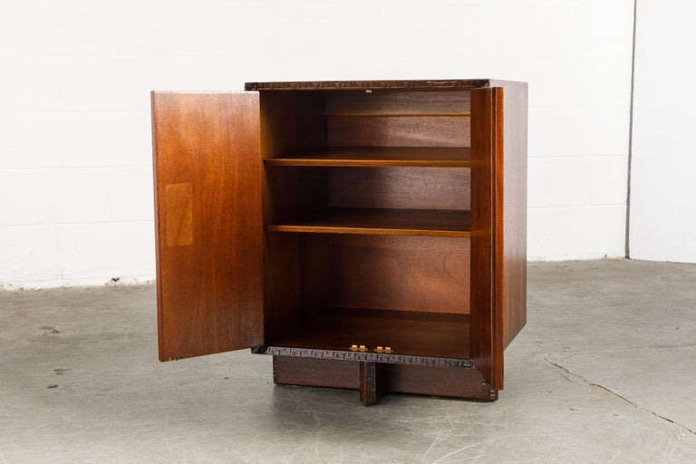 'Taliesin' Collection Mahogany Cabinet by Frank Lloyd Wright, 1955, Signed For Sale 9