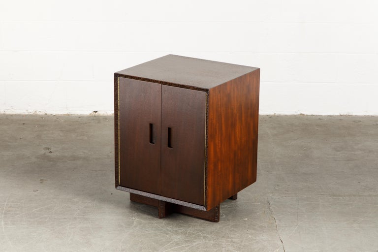Mid-Century Modern 'Taliesin' Collection Mahogany Cabinet by Frank Lloyd Wright, 1955, Signed For Sale