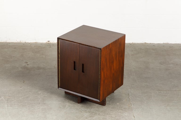American 'Taliesin' Collection Mahogany Cabinet by Frank Lloyd Wright, 1955, Signed For Sale