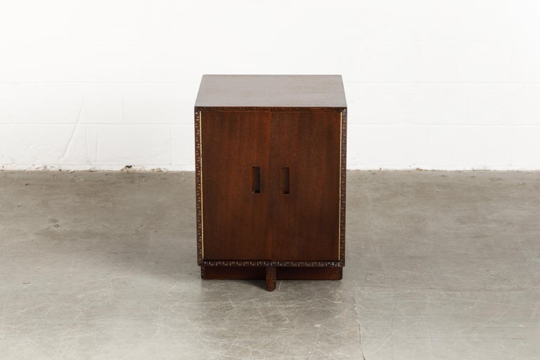 Mid-20th Century 'Taliesin' Collection Mahogany Cabinet by Frank Lloyd Wright, 1955, Signed For Sale