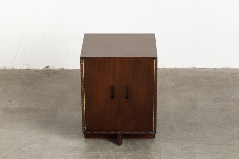 'Taliesin' Collection Mahogany Cabinet by Frank Lloyd Wright, 1955, Signed For Sale 1