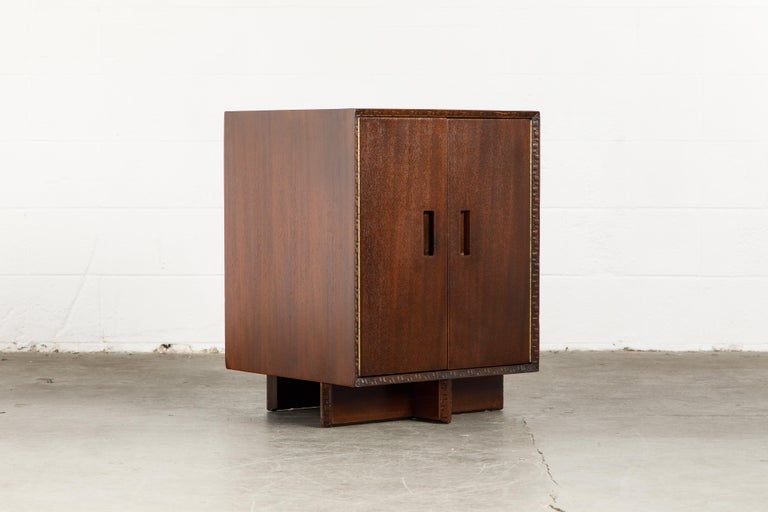 'Taliesin' Collection Mahogany Cabinet by Frank Lloyd Wright, 1955, Signed For Sale 2