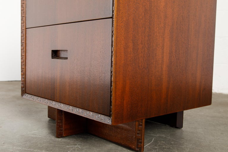 'Taliesin' Collection Mahogany Cabinets by Frank Lloyd Wright, 1955, Signed For Sale 10