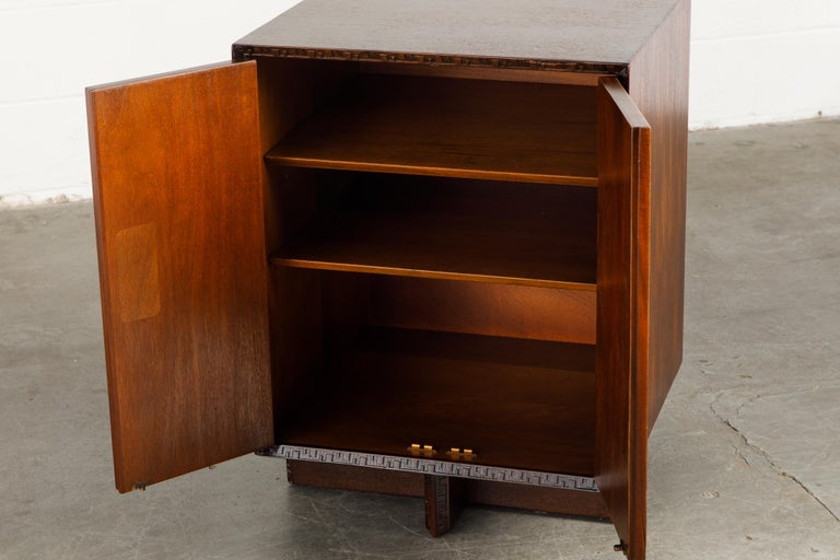 'Taliesin' Collection Mahogany Cabinets by Frank Lloyd Wright, 1955, Signed For Sale 11