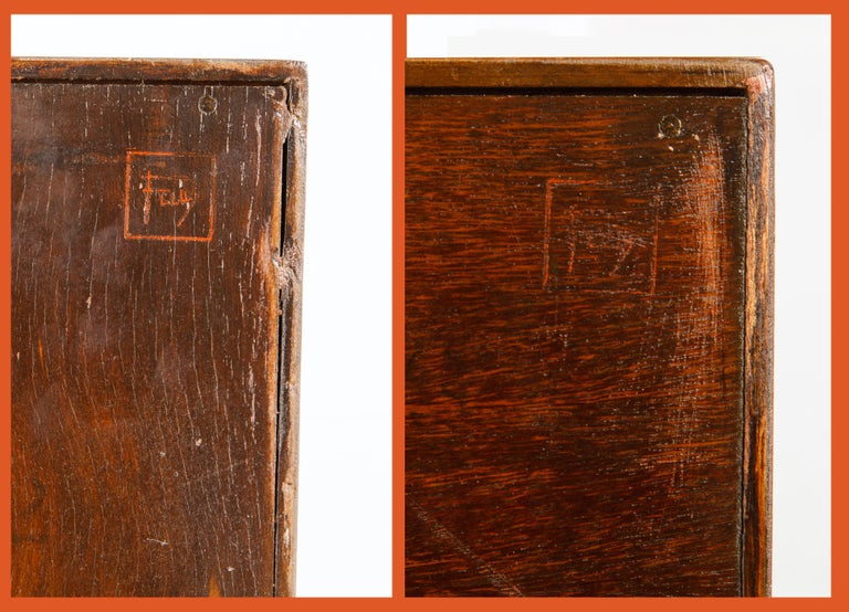 'Taliesin' Collection Mahogany Cabinets by Frank Lloyd Wright, 1955, Signed For Sale 13