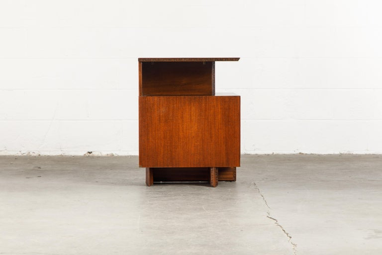 'Taliesin' Collection Platform Nightstand by Frank Lloyd Wright, 1955, Signed For Sale 4