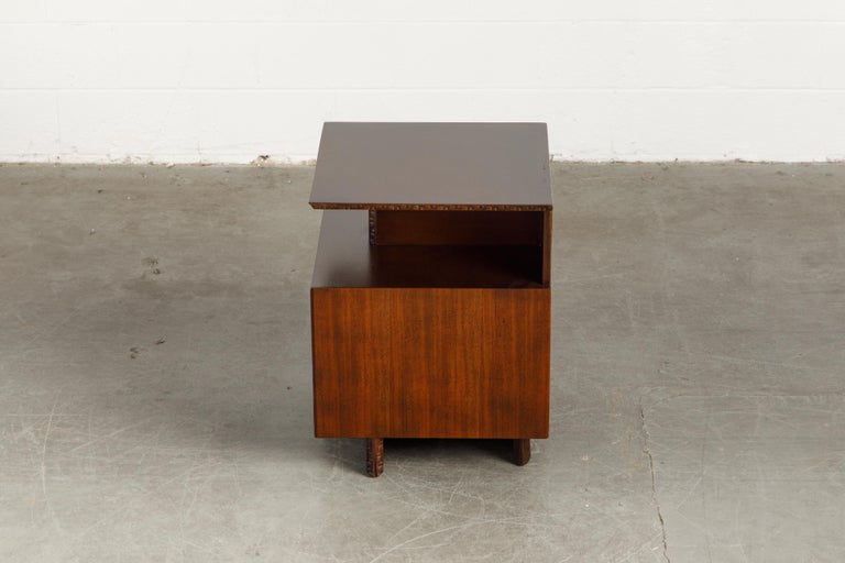 'Taliesin' Collection Platform Nightstand by Frank Lloyd Wright, 1955, Signed For Sale 6