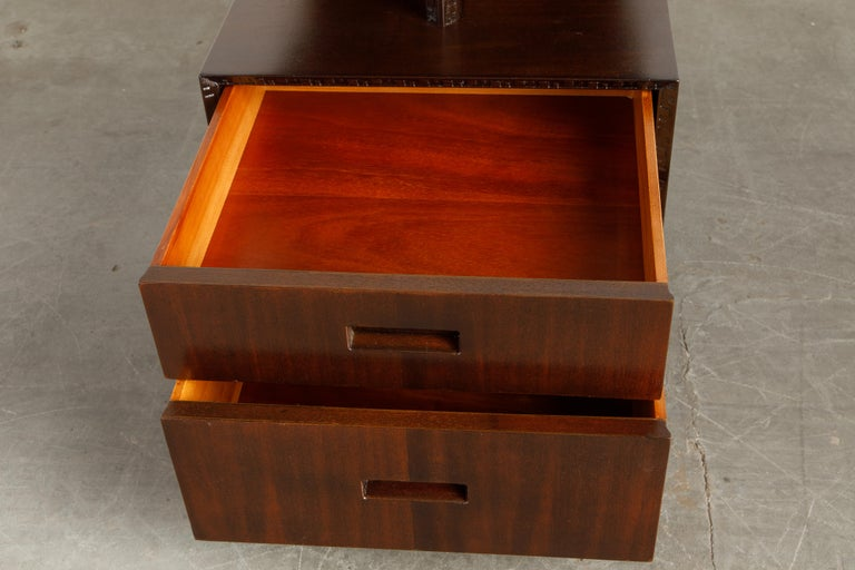 'Taliesin' Collection Platform Nightstand by Frank Lloyd Wright, 1955, Signed For Sale 8