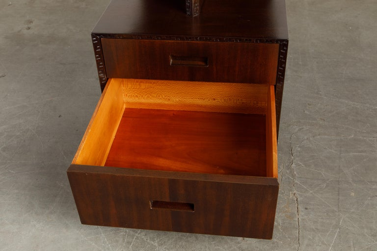 'Taliesin' Collection Platform Nightstand by Frank Lloyd Wright, 1955, Signed For Sale 9