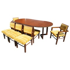 Taliesin Dining Table & Eight Chairs by Frank Lloyd Wright for Heritage-Henredon