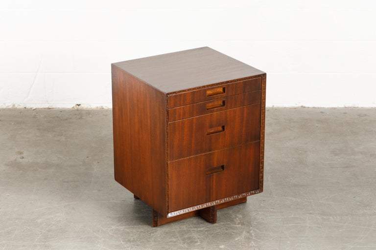 'Taliesin' Mahogany Chest of Drawers by Frank Lloyd Wright, 1955, Signed For Sale 3