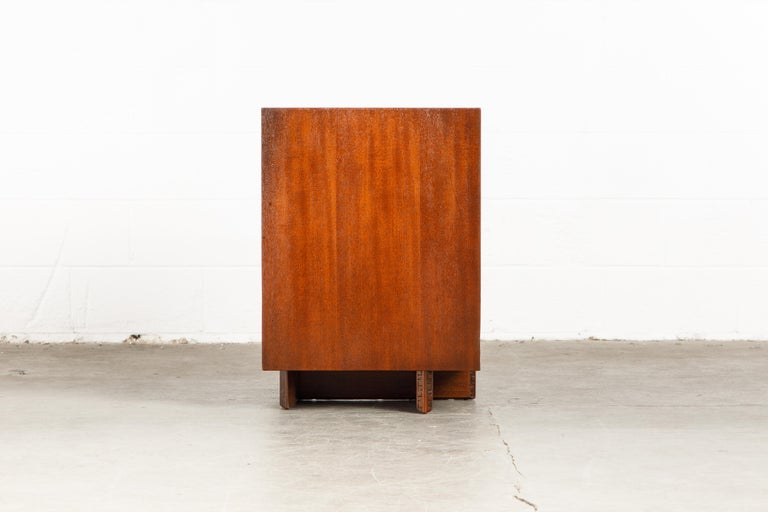 'Taliesin' Mahogany Chest of Drawers by Frank Lloyd Wright, 1955, Signed For Sale 4