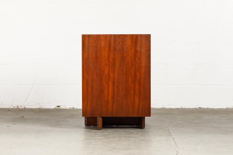 'Taliesin' Mahogany Chest of Drawers by Frank Lloyd Wright, 1955, Signed For Sale 5