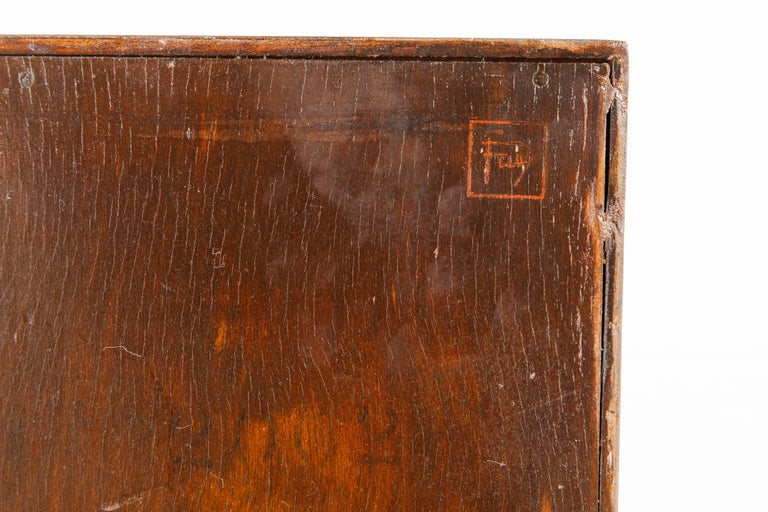'Taliesin' Mahogany Chest of Drawers by Frank Lloyd Wright, 1955, Signed For Sale 6