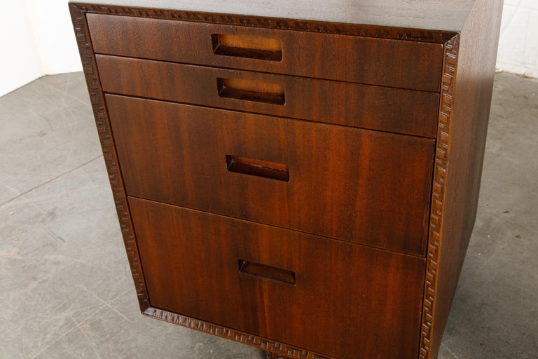 'Taliesin' Mahogany Chest of Drawers by Frank Lloyd Wright, 1955, Signed For Sale 7